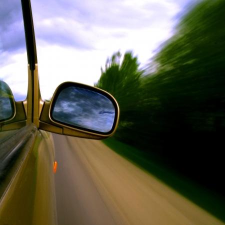 rear views: speed drive blurred transportation background