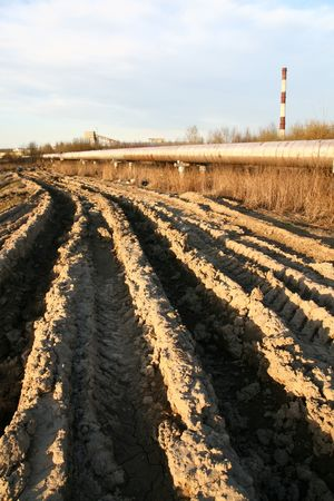 sandy soil: track in dirt 4x4 cross outdoors extreme background