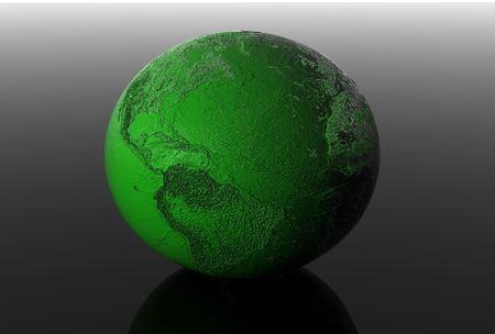 3d earth in black space Stock Photo - 4995985