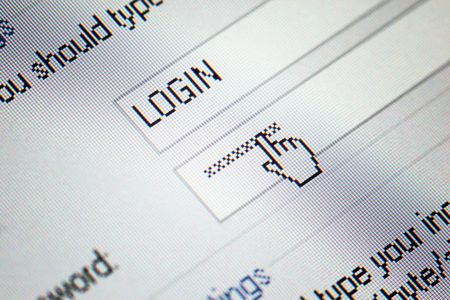 login  password on lcd screen macro Stock Photo - 5012699