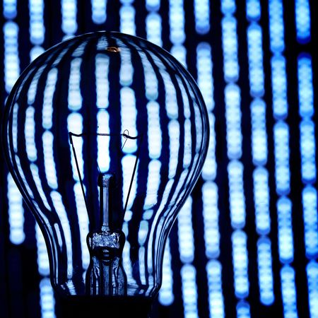 bulb on abstract background macro close Stock Photo - 5005821