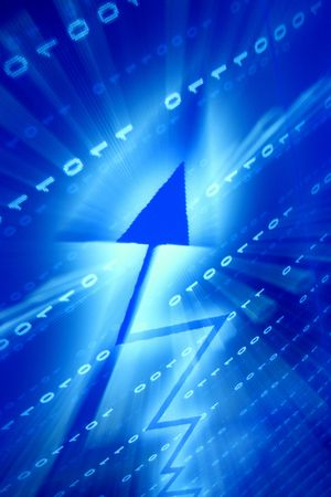 blue data space abstract financial background Stock Photo - 5005772