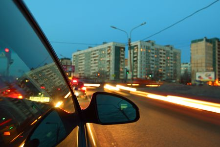 night drive blurred in motion Stock Photo - 5008934
