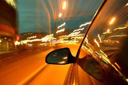 night drive blurred in motion Stock Photo - 5008948