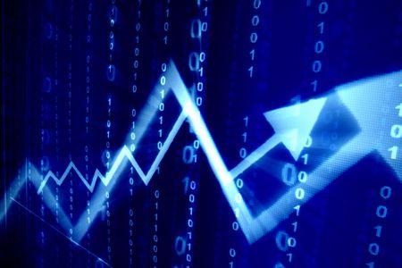 bolsa de valores: azul espacio abstracto de datos de antecedentes financieros