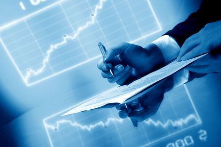 financial seminar professional business background Stock Photo - 5019487