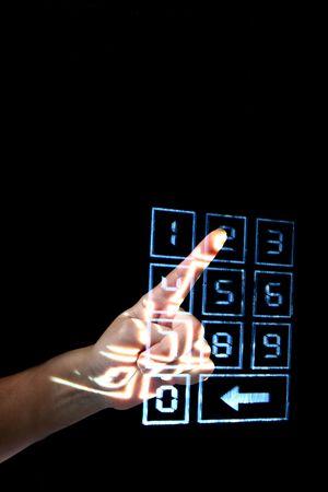 enter secret code on numpad security control Stock Photo - 5020291