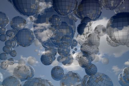 3d sphere abstract background world sky Stock Photo - 5019336