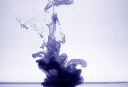 ink in water abstract flow background photo