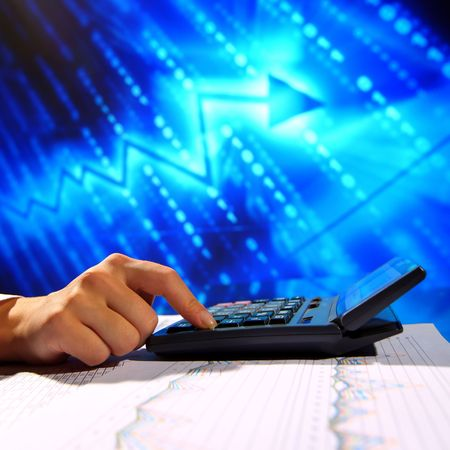 businessman data info technology concept Stock Photo - 5955984