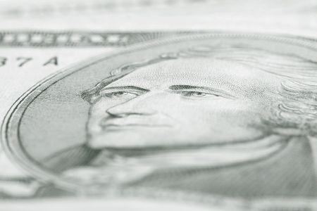 one dollar background macro close up photo