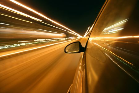 speed drive in night city Stock Photo - 5955881