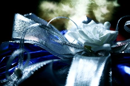 gift bow macro close up photo