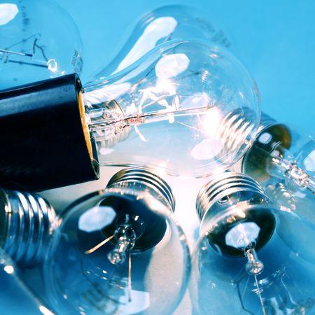 energy bulb macro close up photo