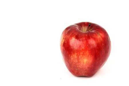 red apple  isolated on white background Stock Photo - 5956331