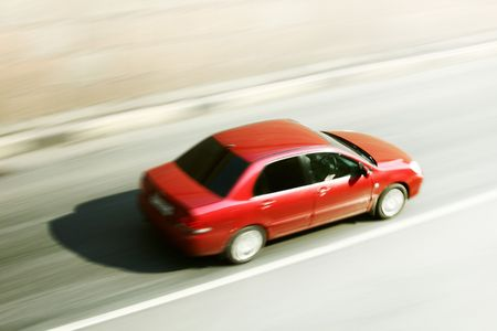 speed car drive blurred inmotion Stock Photo - 5956391