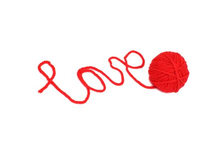 cat and wool sign love Stock Photo - 6315609