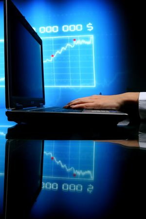 laptop finance work close up Stock Photo - 6316566
