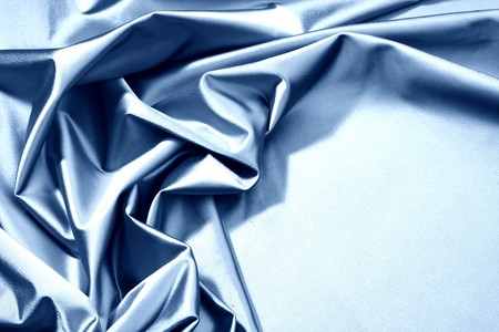 blue satin background closse up Stock Photo - 7855842