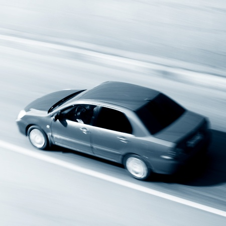 speed car drive blurred inmotion Stock Photo - 8415541