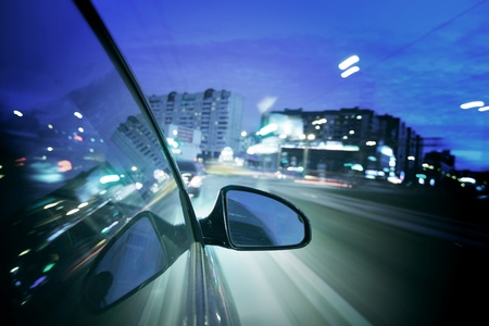 night drive blurred in motion Stock Photo - 8415605