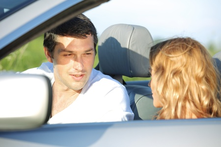 love in cabrio woman and man Stock Photo - 8415594