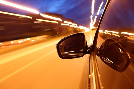 night drive blussed in motion Stock Photo - 8486556