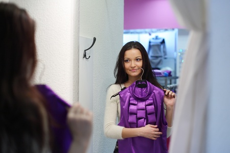 woman in dress room wear dress Stock Photo - 8438014