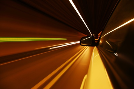 night drive on car Stock Photo - 8453325