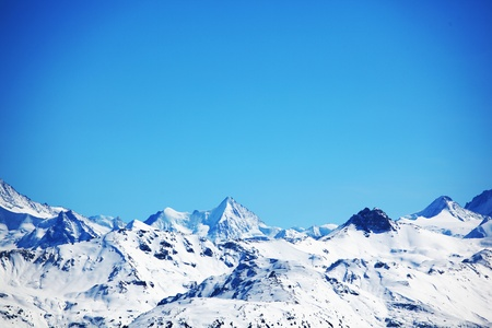 top of mountains sun in blue sky Stock Photo - 8525516