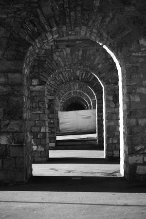 gothic stone passage architecture monument Stock Photo - 8454018