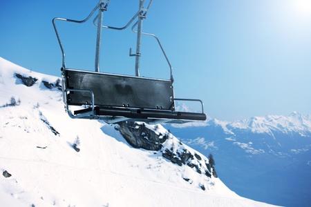 elevator ski mountains on background Stock Photo - 8453692