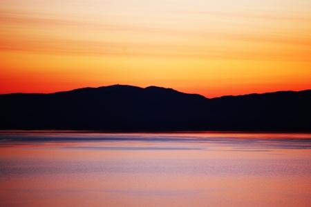 lake of geneva landscape on sunrise photo