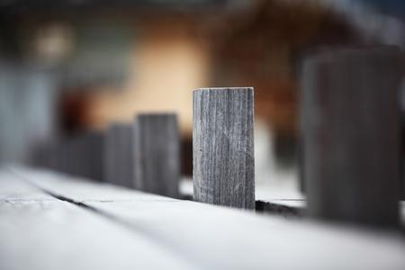 wood fence in hight dof photo