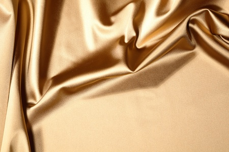 gold textile background close up Stock Photo - 8491085