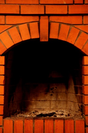 fireplace close up photo