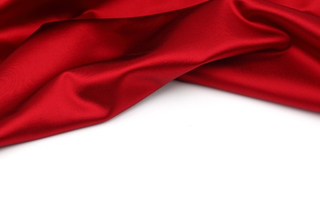 red satin isolated on white Stock Photo