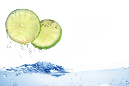 lime water splash freshness drink concept Stock Photo - 8515117