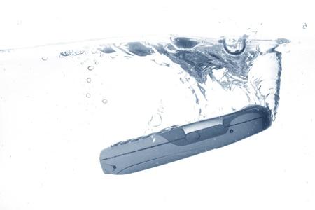 phone splash under water tech concept  photo