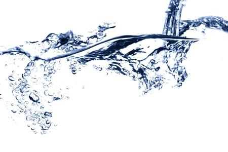 water falling close up bubble stream photo