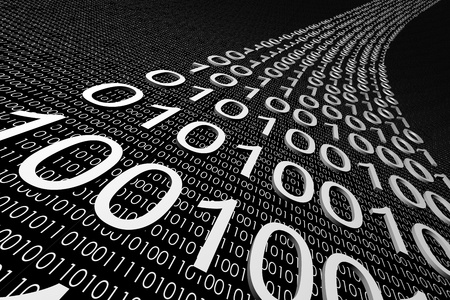 3d data abstract cyberspace background Stock Photo
