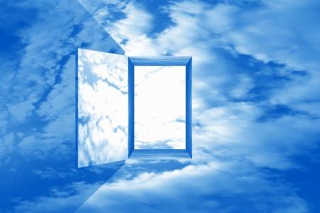 god heaven dream door passage Stock Photo - 8516710