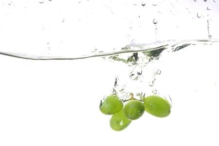 grape water splash isolated freshness concept Stock Photo - 8515769
