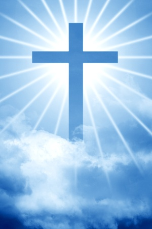 sky god cross beautiful holy scene