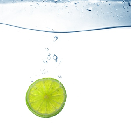 lime water splash freshness drink concept photo