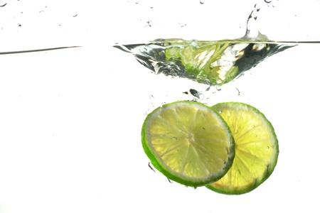 lime water splash freshness drink concept Stock Photo - 8515854