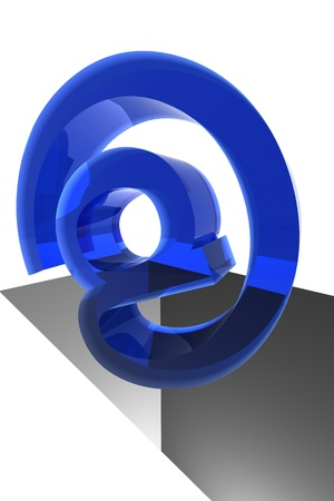 incoming email character 3d abstract mail concept Stock Photo - 8516178