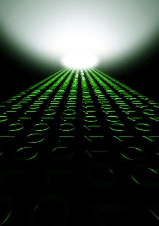 parallel world: matrix binary digital connecting code design Stock Photo