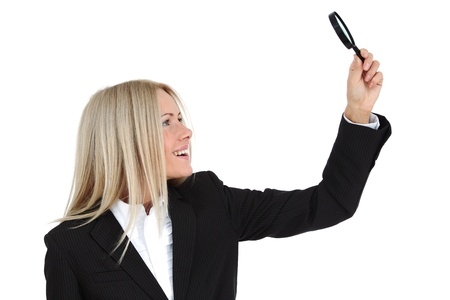 business woman search portrait isolated close up photo