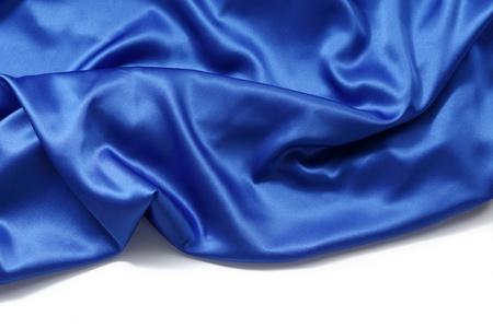 blue silk background close up isolated photo